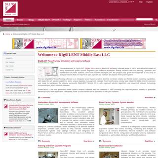 DIgSILENT Middle East LLC - Welcome to DIgSILENT Middle East LLC