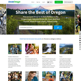 Share Oregon; things to do in Oregon from Portland to the Oregon Coast