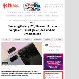 Samsung Galaxy S20, Plus und Ultra im Vergleich- Das ist gleich, das sind die Unterschiede