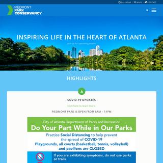 Piedmont Park Conservancy - Inspiring Life In The Heart of Atlanta