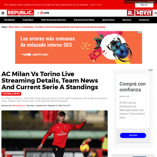 ArchiveBay.com - www.republicworld.com/sports-news/football-news/ac-milan-vs-torino-live-streaming-details-team-news-serie-a-standings.html - AC Milan vs Torino live streaming details, team news and current Serie A standings - Republic World