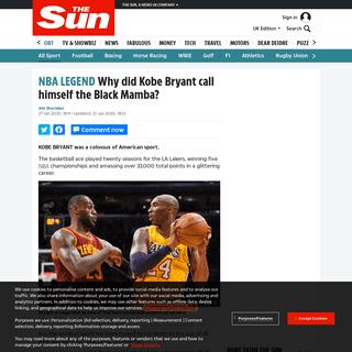 Why did Kobe Bryant call himself the Black Mamba- – The Sun