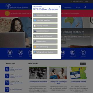 Spokane Public Schools - Homepage