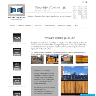 From design to installation, service and repairs, we offer the complete solution for electric gates.