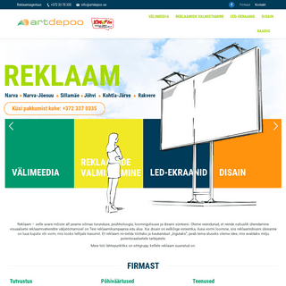Reklaamiagentuur Art Depoo OÜ Ida-Virumaa - reklaami eksponeerimine