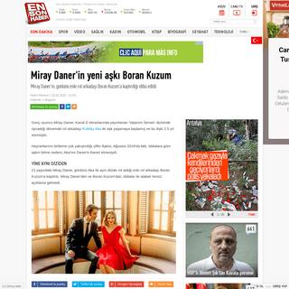Miray Daner'in yeni aşkı Boran Kuzum