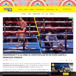 Izquierdazo y a la lona- El espectacular KO de Ryan García a Francisco Fonseca
