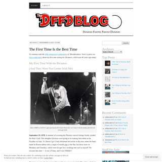 The DFFD Blog - Dictators band fan site