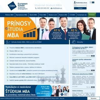 Online štúdium MBA na ESBM - získajte titul MBA - ESBM.sk