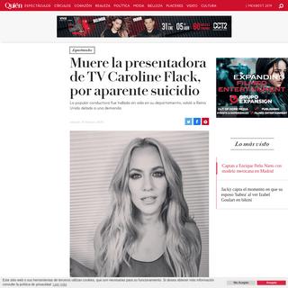 Muere la presentadora de TV Caroline Flack, por aparente suicidio
