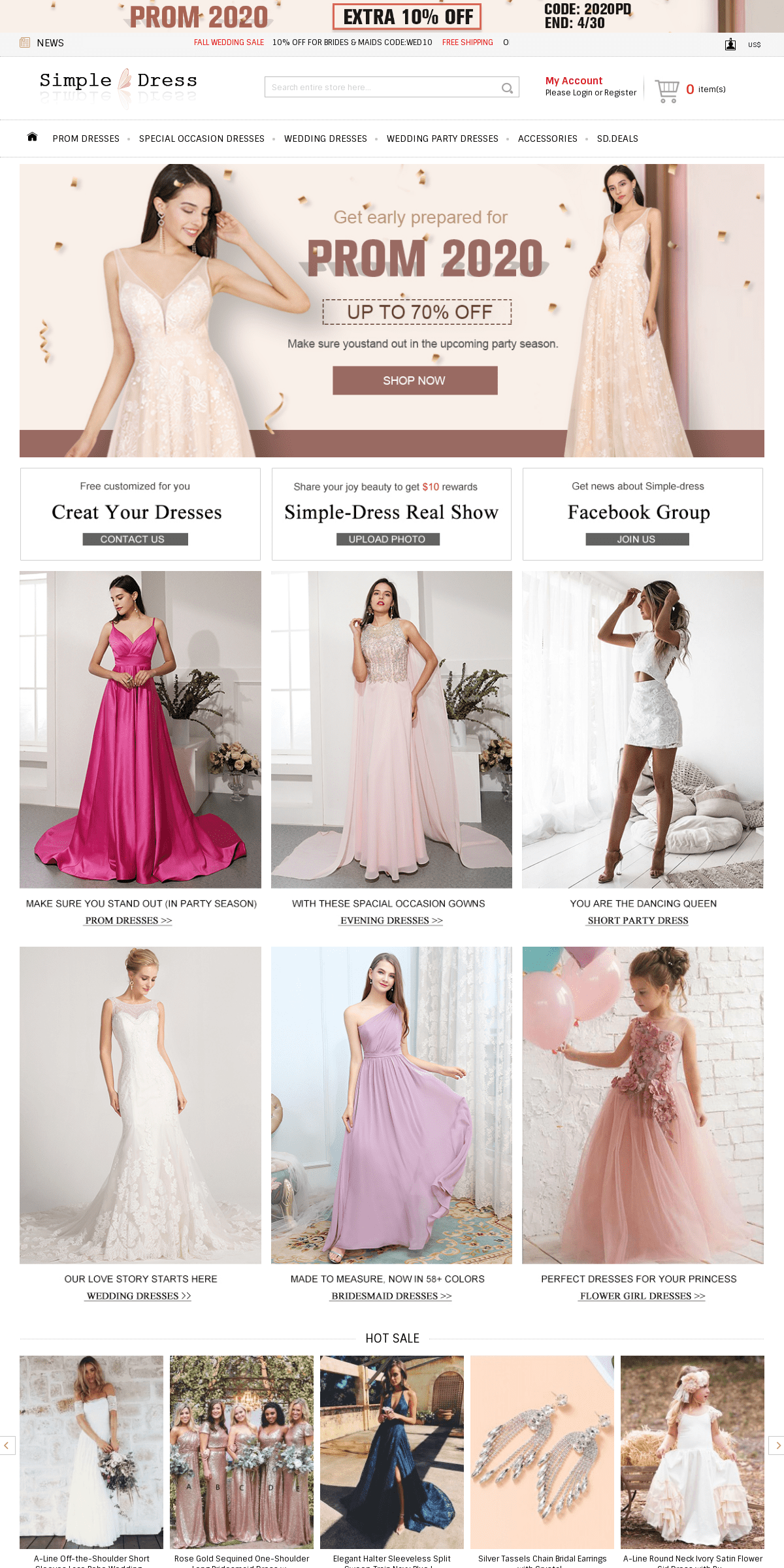 Prom Dresses, Evening Dresses, Bridal Gowns & Accessories for Hot Sale - Simple-dress.com