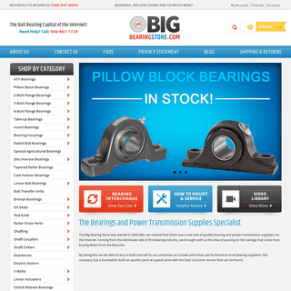 Bearings - Power Transmission Specialists - The Big Bearing Store