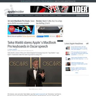 Taika Waititi slams Apple's MacBook Pro keyboards in Oscar speech
