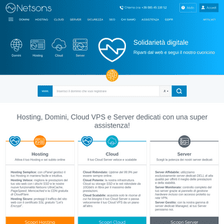 Hosting, Cloud Server, Server dedicati, Domini - Netsons