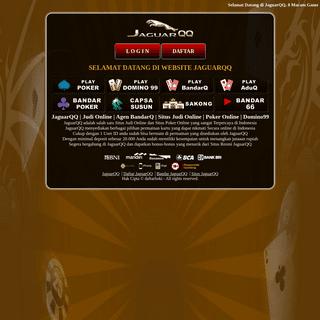 JaguarQQ Situs Bandar Agen Judi Poker Online Terpercaya