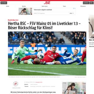 Hertha BSC – FSV Mainz 05 im Liveticker 1-3 – Böser Rückschlag für Klinsi! – B.Z. Berlin