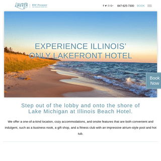 Hotel on Lake Michigan - Illinois Beach Hotel - Chicago Lakeside Hotel