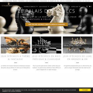 Boutique Spécialiste Jeux d'Echecs & Échiquiers - LePalaisDesEchecs