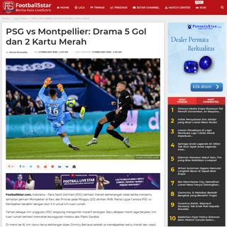 PSG vs Montpellier- Drama 5 Gol dan 2 Kartu Merah