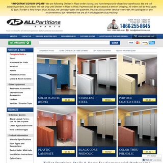 All Partitions- Toilet Bathroom Partitions & Toilet Stalls for Restrooms