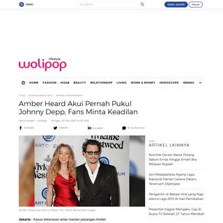 Amber Heard Akui Pernah Pukul Johnny Depp, Fans Minta Keadilan