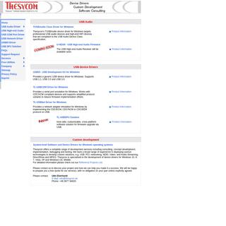 ArchiveBay.com - thesycon.de - Thesycon - USB Software development for Windows Operating Systems