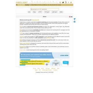 Check server- Check host - online website monitoring