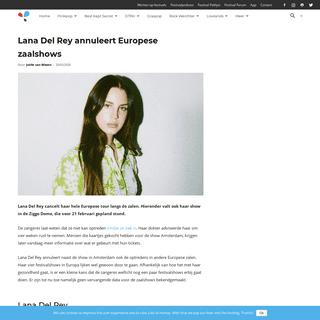 ArchiveBay.com - festileaks.com/2020/02/lana-del-rey-annuleert-europese-zaalshows/ - Lana Del Rey annuleert Europese zaalshows - Festileaks.com