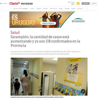 ArchiveBay.com - www.clarin.com/sociedad/sarampion-cantidad-casos-aumentando-118-confirmados-provincia_0_UWN4IFqF.html - Sarampión- la cantidad de casos está aumentando y ya son 118 confirmados en la Provincia - Clarín