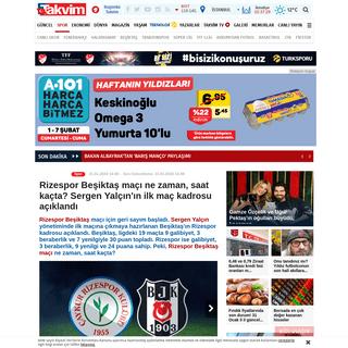Rizespor Beşiktaş maçı ne zaman, saat kaçta- Sergen Yalçın'ın ilk maç kadrosu açıklandı - Takvim