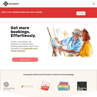 Occasion Booking Software - Get more bookings. Effortlessly.