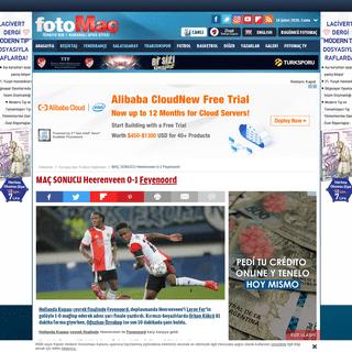 MAÇ SONUCU Heerenveen 0-1 Feyenoord - Son dakika Avrupa'dan Futbol haberleri - Fotomaç - Son dakika Avrupa'dan Futbol habe