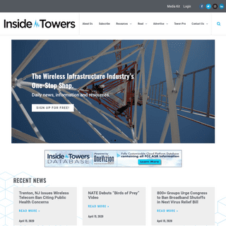 Home - Inside Towers - News for the Wireless Industry