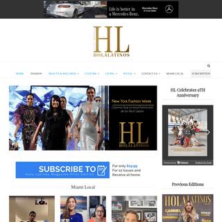 Hola Latinos News - Spanish magazine, hispanic magazine, fashion, beauty, lifestyle, travel