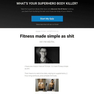Fitness Made Simple As Sh!t - FitMole