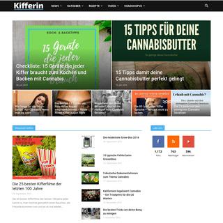 Kifferin - Portal für Cannabis Legalisierung, Headshops, Kiffen