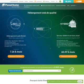 Hébergeur web - Meilleur hébergement site web - PlanetHoster