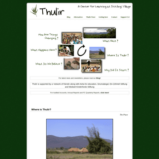 Thulir - A Centre for Learning at Sittilingi Village