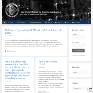ArchiveBay.com - lcra.org.co - Liga Colombiana de Radioaficionados - LCRA - Alma mater de la radioafición colombiana desde 1933.