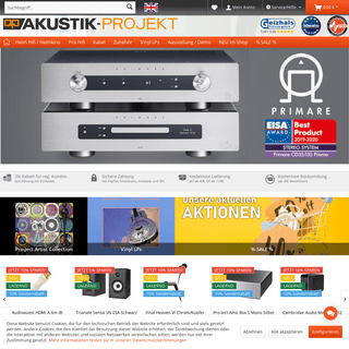 Heim Hifi • Heimkino • Pro Hifi • Hifi Zubehör günstig online bestellen - AKUSTIK-PROJEKT