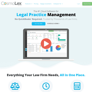 Law Practice and Case Management Software for Attorneys & Law Firms - CosmoLex