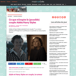ArchiveBay.com - www.madmoizelle.com/harry-styles-adele-couple-1039302 - Adele et Harry Styles en couple - la rumeur enfle ! madmoiZelle.com
