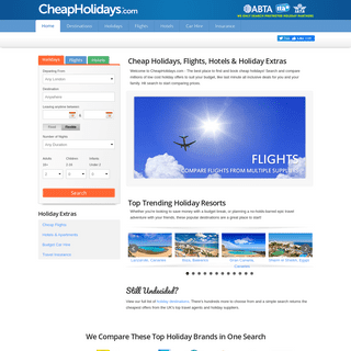 CheapHolidays.com - Compare Cheap Holidays from Top Holiday Companies