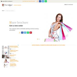 Avon Canada, cosmetics brochure online 12 13 14 15 2020