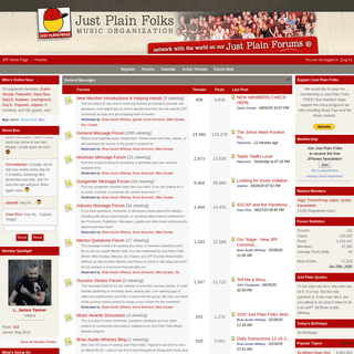 Just Plain Folks Music Organization Message Boards - Forums powered by UBB.threads