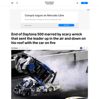 VIDEO- End of Daytona 500 marred by Ryan Newman's scary wreck - Business Insider