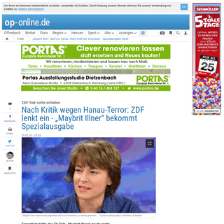 """""""Maybrit Illner"""" (ZDF) zu Hanau- Nach Kritik der Zuschauer - Spezialausgabe heute - Politik"""