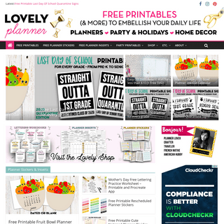 Lovely Planner - Free printables - party printables, planner stickers, lettering, DIY and more!