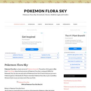 ArchiveBay.com - pokemonfloraskyrom.com - Pokemon Flora Sky ROM Hack GBA Official Page - Pokemon Flora Sky Download, Cheats, Walkthrough and Guides