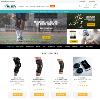 Better Braces For Injuries - The Sports Bracing & Therapy Experts - Free Shipping